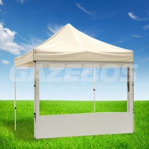 3m OZtrail Gazebo Heavy Duty Side Wall with PVC Window White - Set Of 3