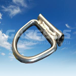 D-Ring With Welded Tube 8mm X 50mm Stainless Steel