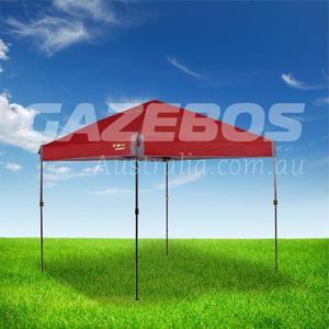 OZtrail Compact 2.4 Gazebo with Red Canopy 2.4m x 2.4m