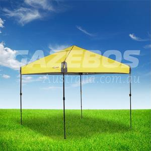 OZtrail Compact 2.4 Gazebo with Yellow Canopy 2.4m x 2.4m