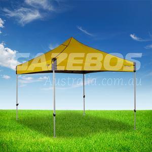 OZtrail Deluxe 3.0 Gazebo with Yellow Canopy 3m x 3m