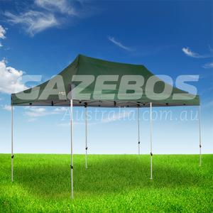 OZtrail Deluxe 6.0 Gazebo with Green Canopy 6m x 3m