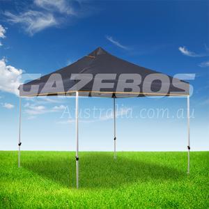OZtrail Deluxe Hydroflow 3.0 Gazebo with Grey Canopy 3m x 3m