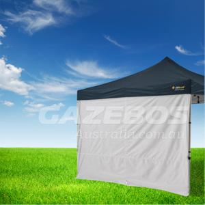 3m OZtrail Gazebo Solid Side Wall with Centre Zip