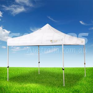 OZtrail Deluxe Commercial 2.4 Gazebo with White Canopy 2.4m x 2.4m
