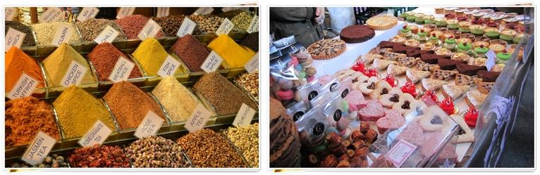 A variety of Product Market Stall Display