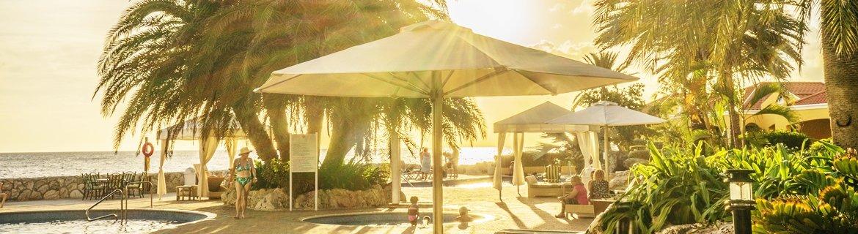 Pool side outdoor umbrellas