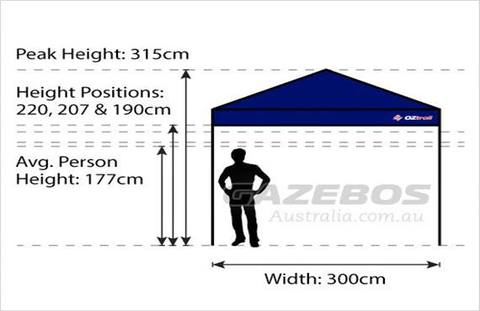 OZtrail Gazebo Tent Inner Kit 3m x 3m