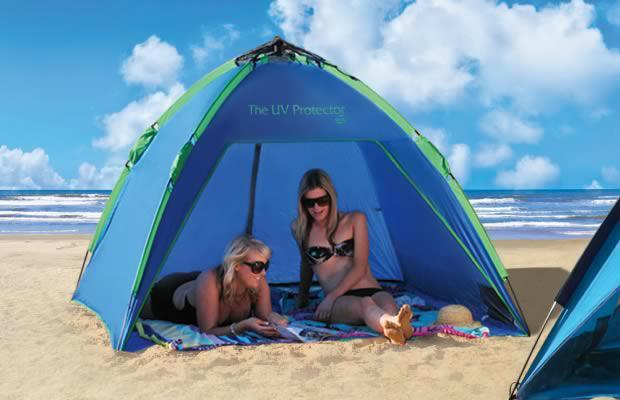 Shelta Royal Blue 2m x 2m UV Protector Pop Up Beach Shelter Shade Sun Tent