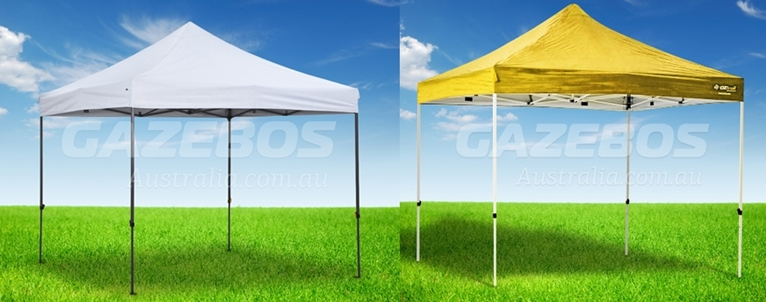 WHITE AND YELLOW 3M SIDE CANOPY