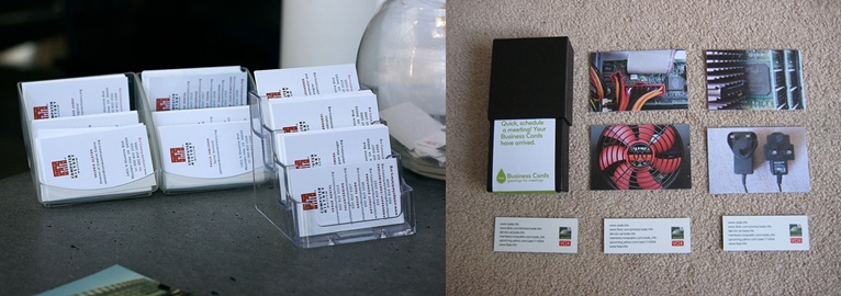 A MARKET STALL BUSINESS CARDS