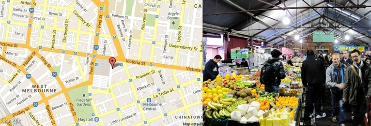 THE MAP OF QUEEN VICTORIA MARKETS