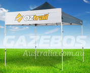 OZtrail Banner Kit 3 metres wide - Front View. Display your business brand on your market stall.